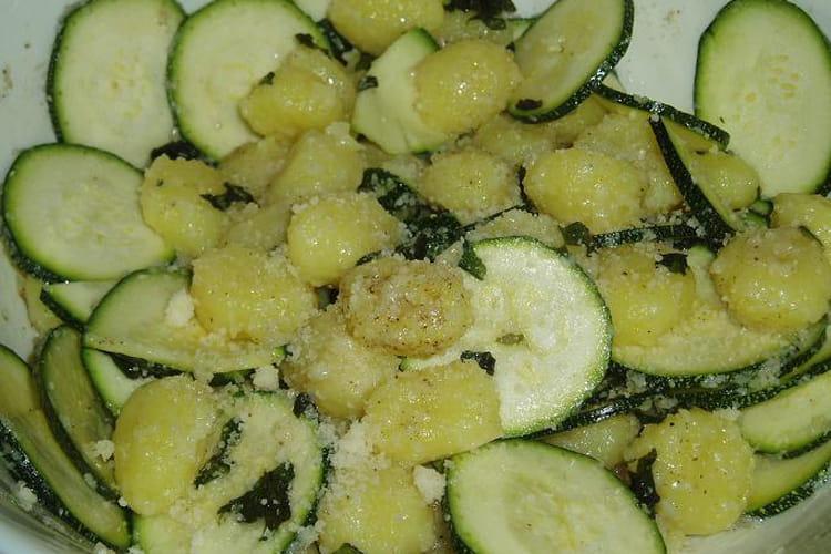 Gnocchis et courgettes au basilic