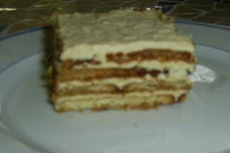 Suprême au café (gâteau au biscuit  à thé)