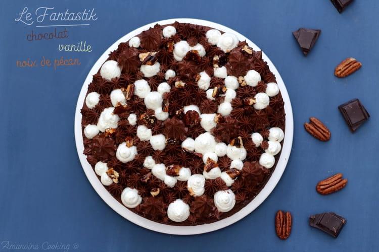 Gâteau chocolat, vanille et pécan façon Fantastik