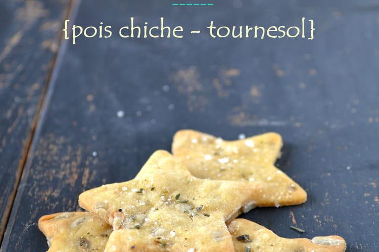 Crackers pois chiche-tournesol