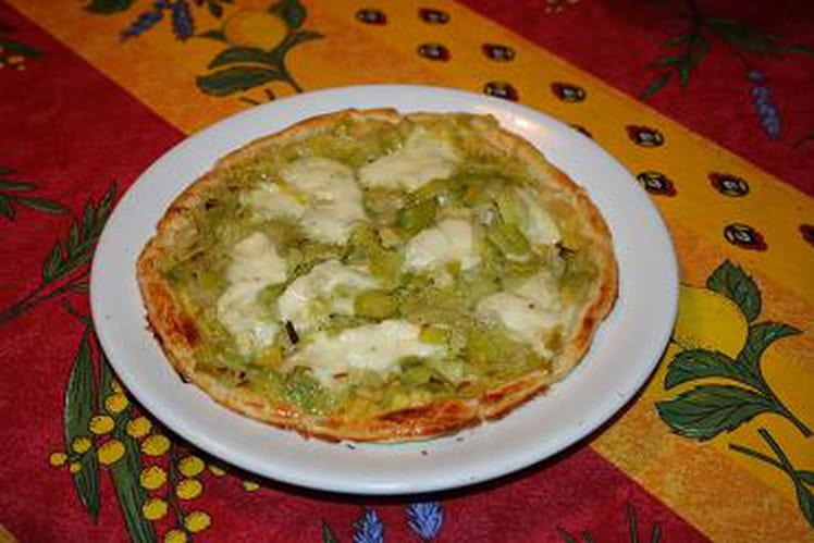 Tartelette aux poireaux et fromage