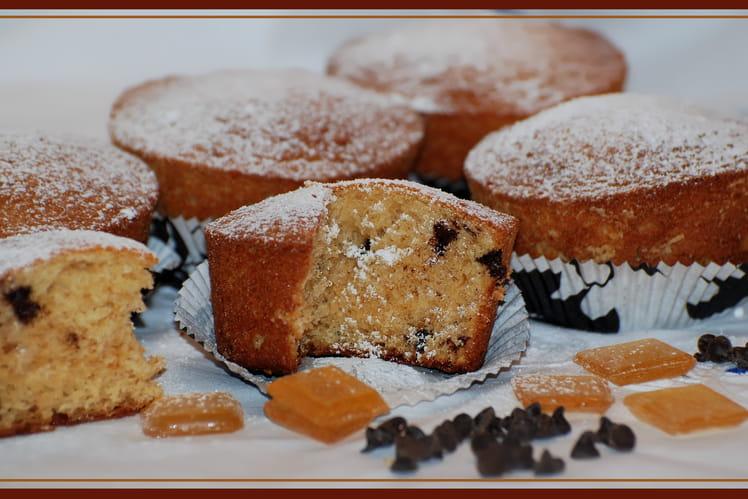 Muffins à la bergamote et pépites de chocolat