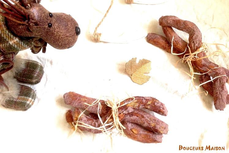 Fagots ultra sablés aux 4 épices et cacao