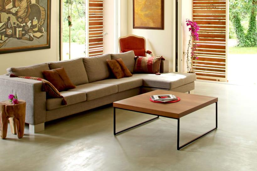 1 table basse en bois etmétal, 10 possibilités