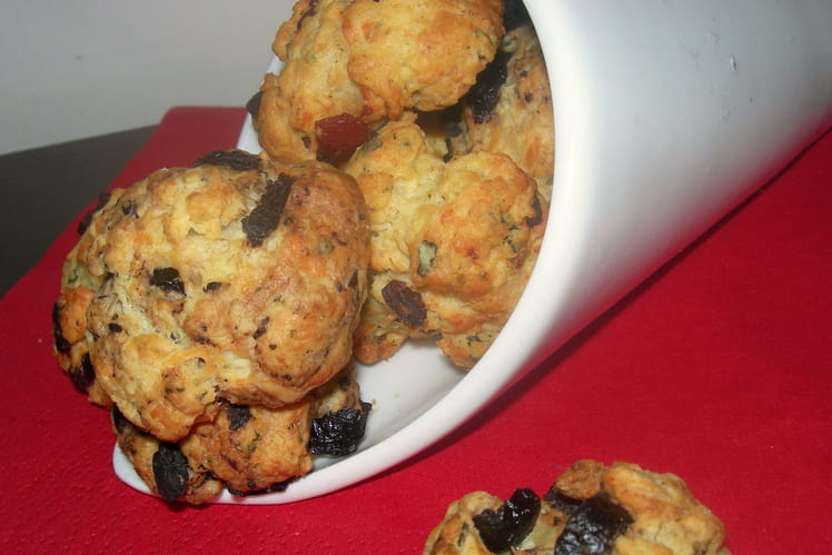 Cookies fromage chorizo et fromage olive