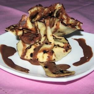 aumonière de banane au chocolat