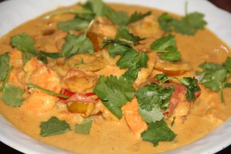 Crevettes au curry et mirabelles de Lorraine