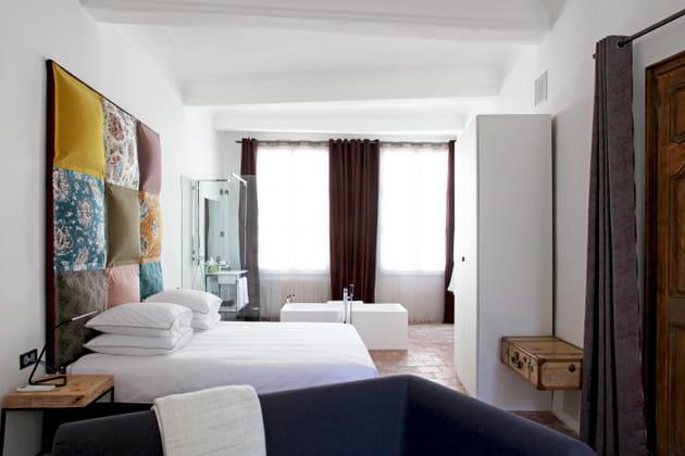 Tête de lit coussins
