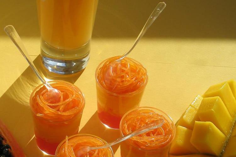 Verrines exotique mangue-papaye