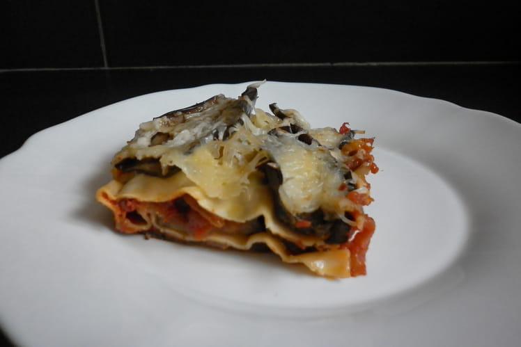 Lasagnes aubergines-tomates