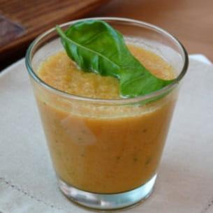 gaspacho de melon et tomate