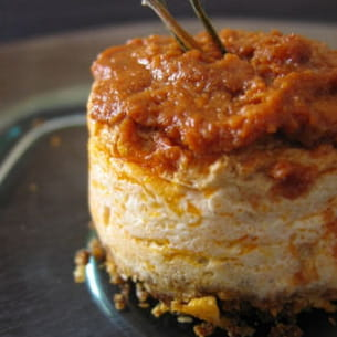 mini cheesecake au chèvre et aux tomates confites