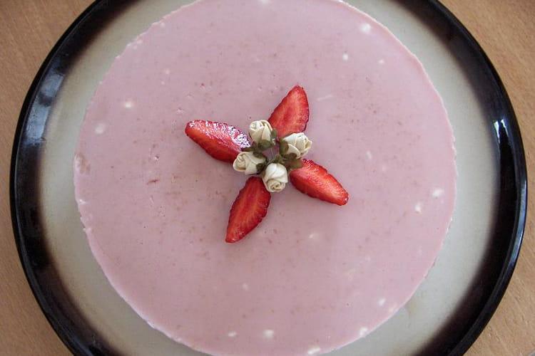 Bavarois à la fraise