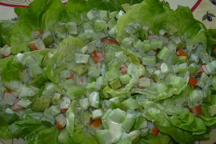 Salade de surimi à l'orange