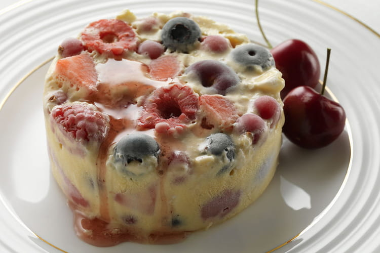 Pudding glacé aux fruits d'été