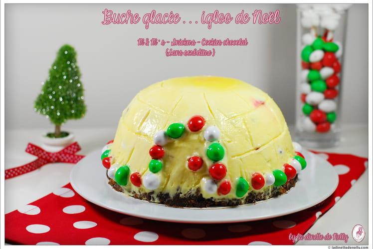 Igloo de Noël aux M&M's, Snickers et cookies sans sorbetière
