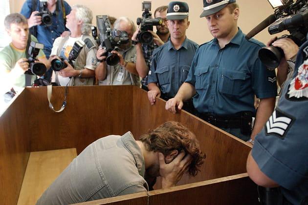 Bertrand Cantat durant son procès
