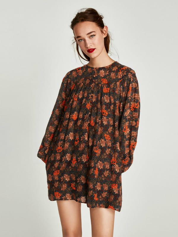 Robe Fleurie De Zara