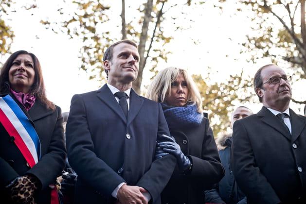 Pendant l'hommage à l'attentat du Bataclan