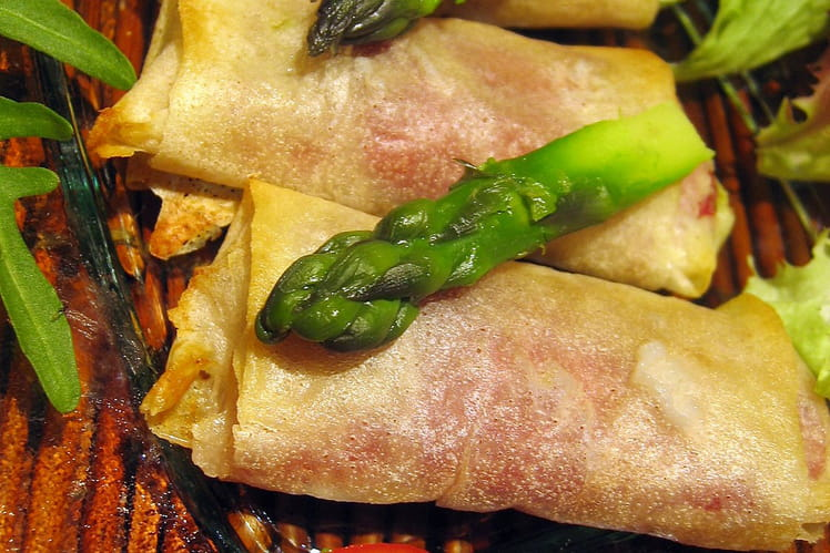 Croustillants aux asperges vertes