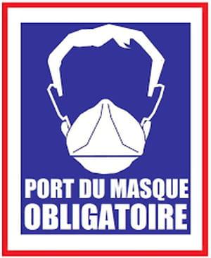 Port du masque obligatoire Logo