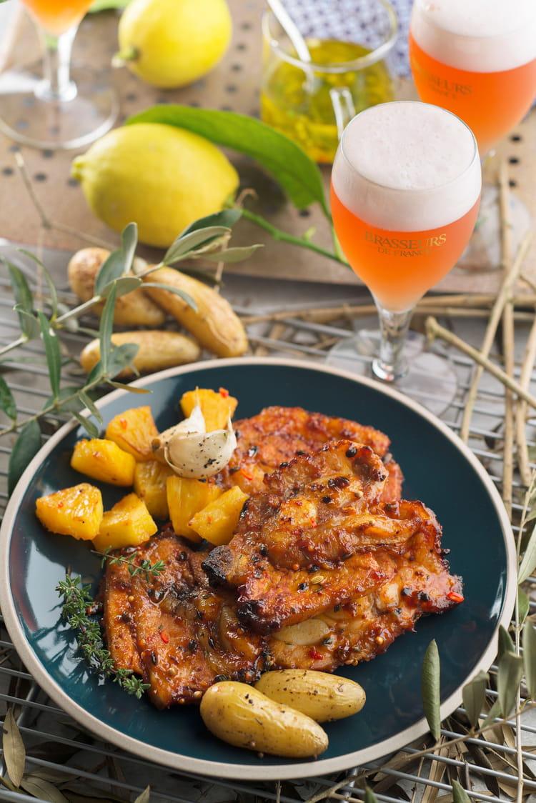 Recette de flanchet de veau marin et fum avec des - Cuisiner le tendron de veau ...