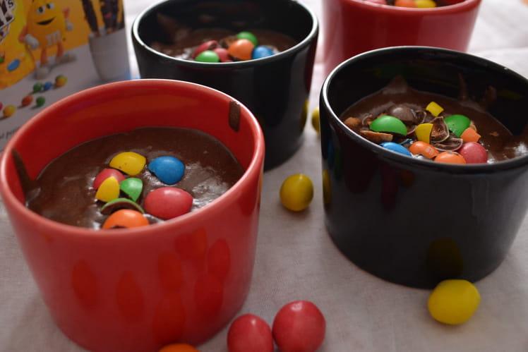 Mousse au chocolat et au M&Ms