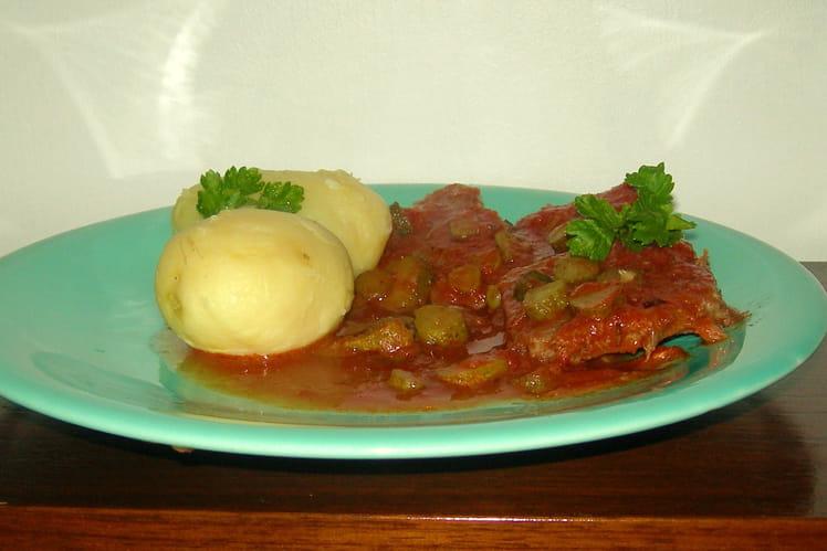 Langue de veau en sauce piquante