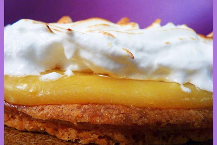 Tarte au citron meringuée au sablé breton