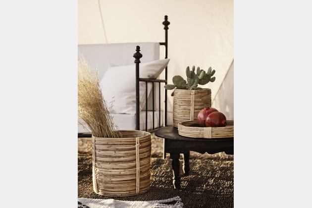 Cache-pot en rotin H&M Home