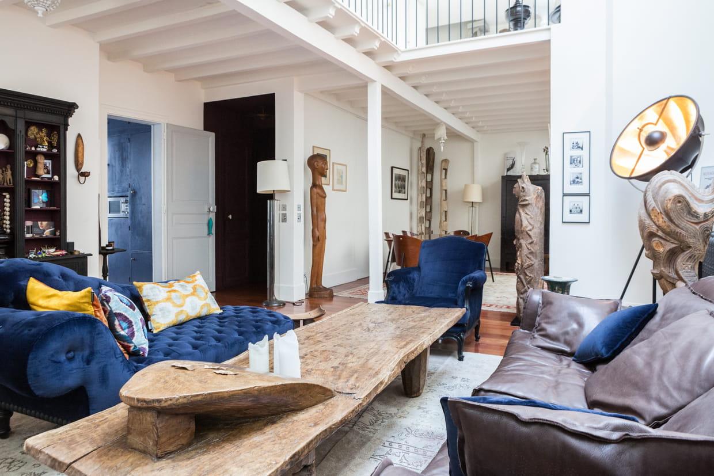 salon bleu nuit. Black Bedroom Furniture Sets. Home Design Ideas