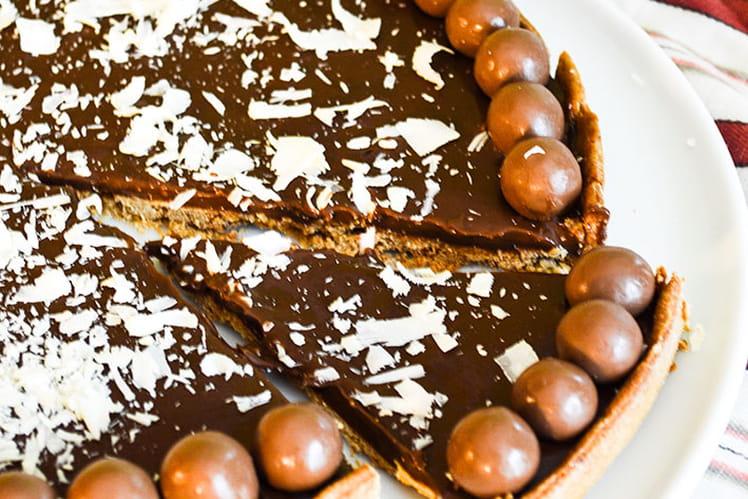 Tarte chocolat au lait et Maltesers