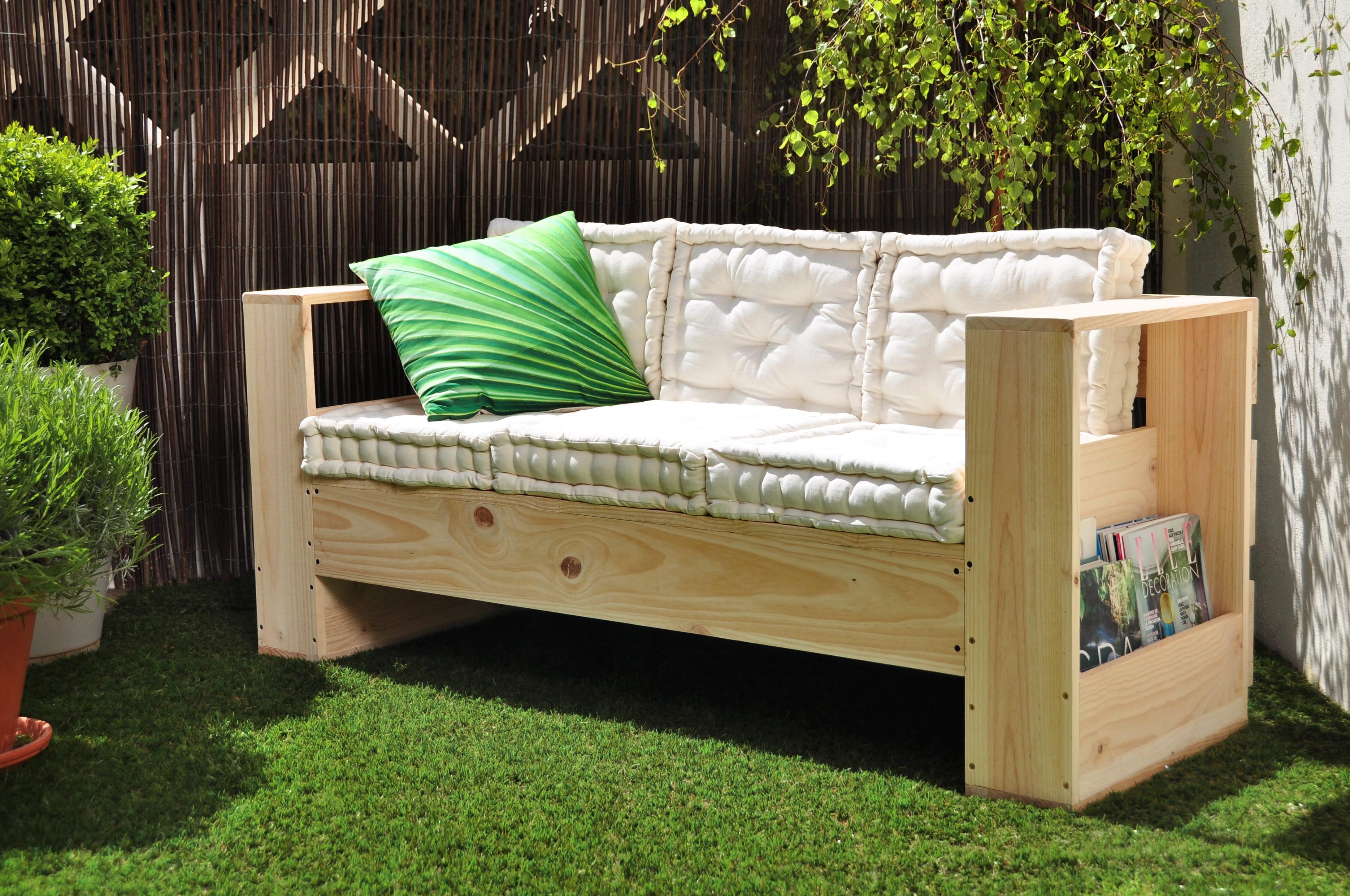 unique fabriquer son canapé | idées de salon de jardin