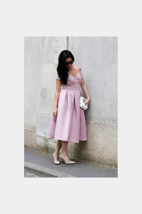 Street looks fashion week haute couture : dragée