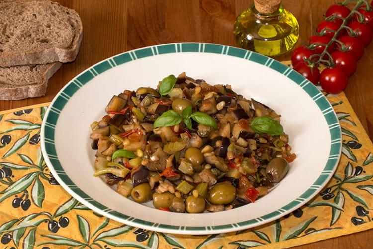 Caponata sicilienne d'aubergines
