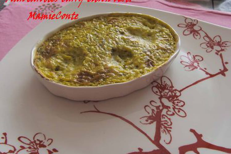 Flan carottes-curry-citron vert
