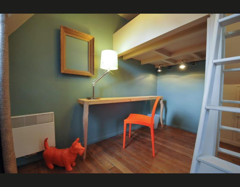 Un studio bleu pastel
