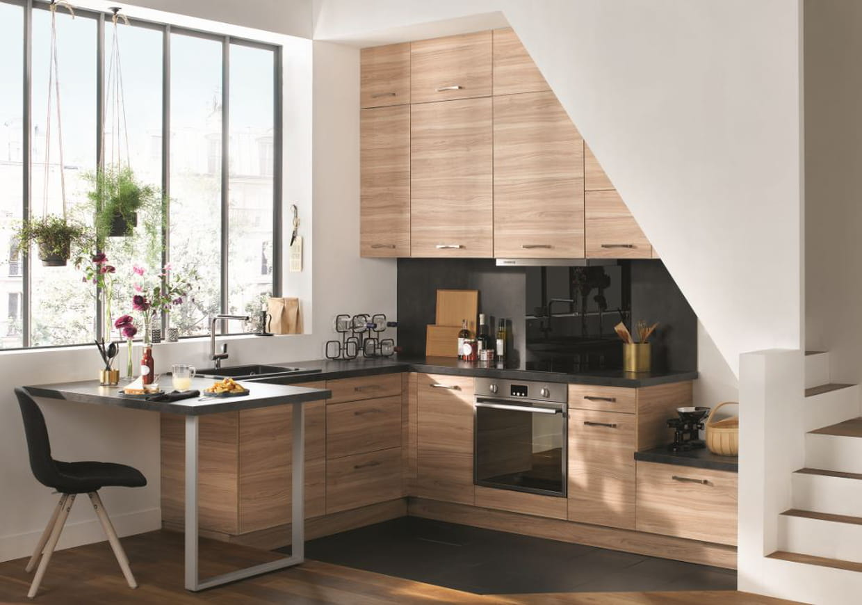 cuisine riga de conforama. Black Bedroom Furniture Sets. Home Design Ideas