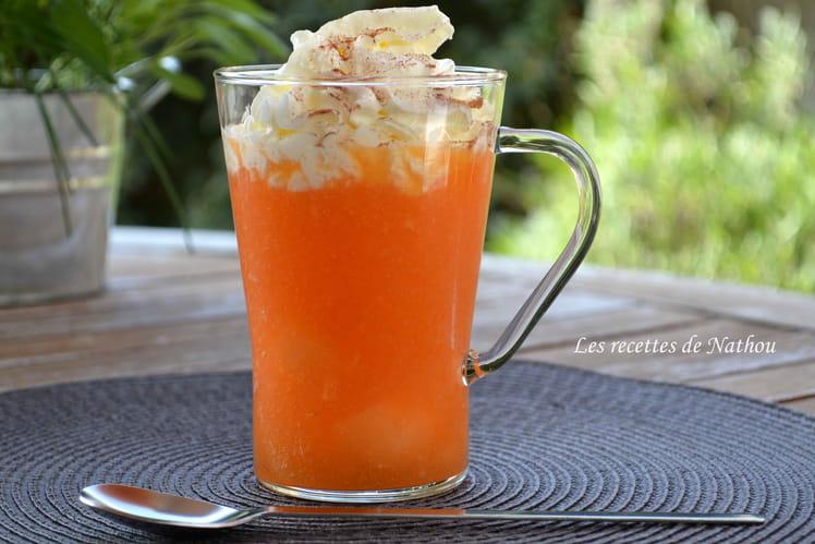 Cappuccino glacé au melon