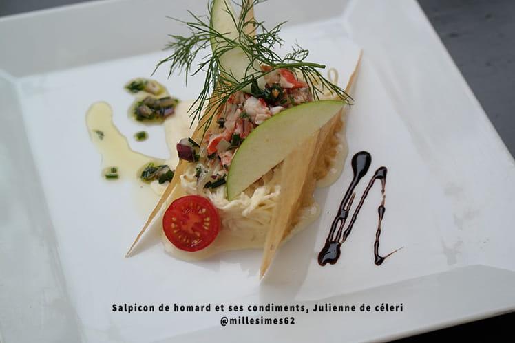 Salpicon de homard et ses condiments, Julienne de céleri