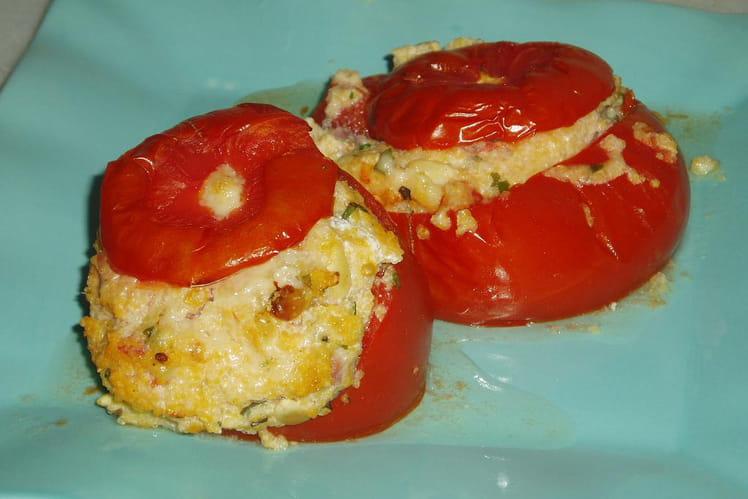 tomates farcies à la polenta