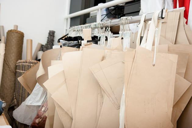 Une garde-robe en carton
