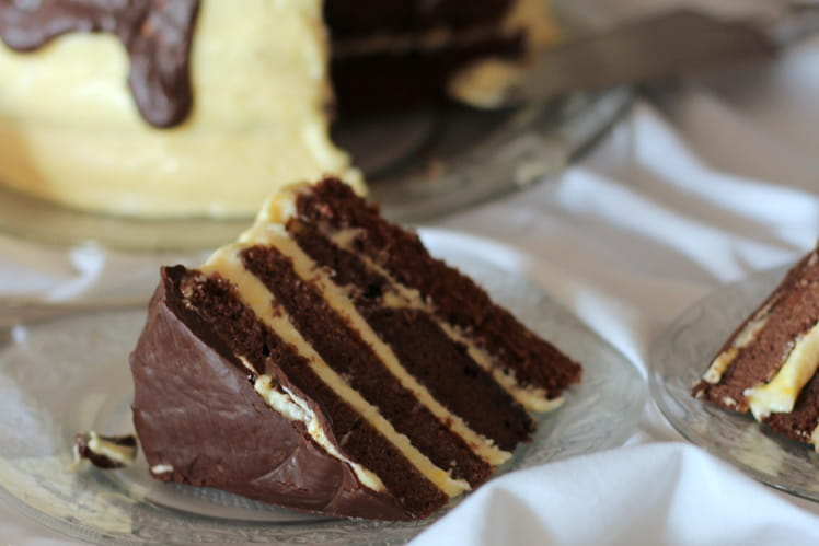Layer cake chocolat-mangue