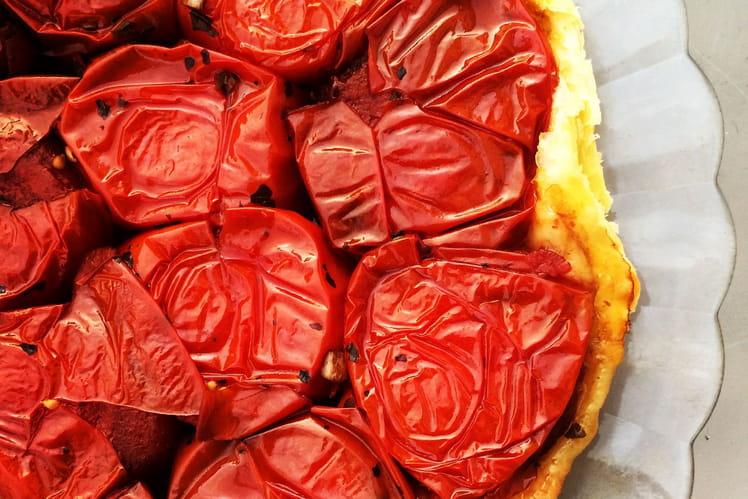 Tarte à la tomate en tatin