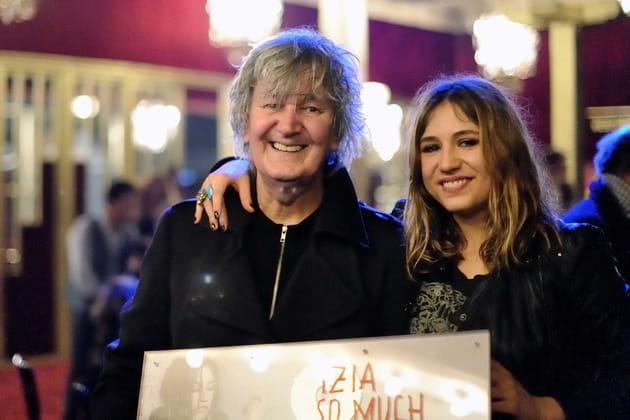 Avec sa fille Izia Higelin, en 2012