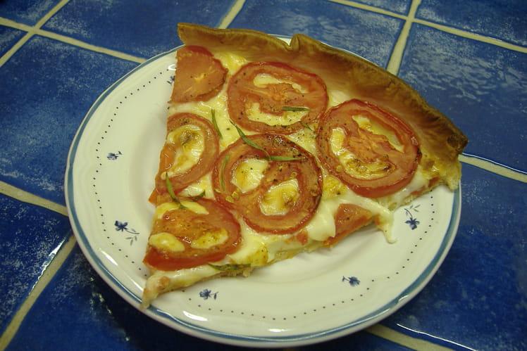 Tarte tomate-cantal