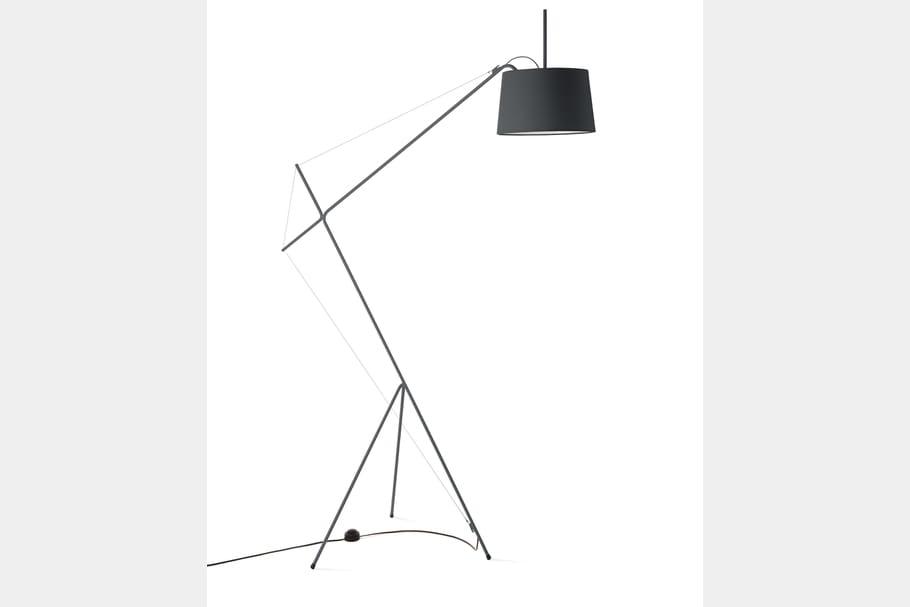 Le lampadaire industriel graphique
