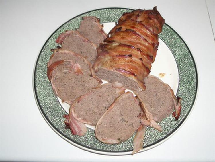 Recette de r ti de boeuf hach au bacon la recette facile - Cuisiner un roti de boeuf au four ...