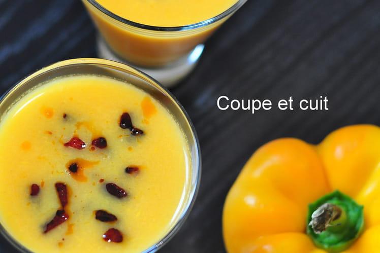 Gaspacho de poivrons jaunes, Tabasco et chorizo