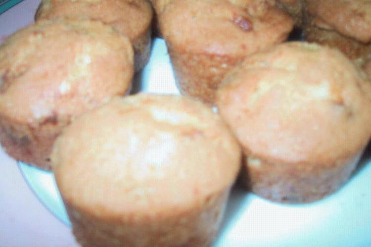 Muffins aux pépites de chocolat blanc